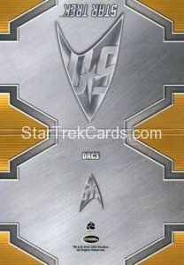 Star Trek 50th Anniversary Trading Card DRC3 Back