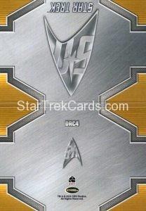 Star Trek 50th Anniversary Trading Card DRC4 Back