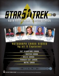 Star Trek 50th Anniversary Trading Card Digital Sell Sheet