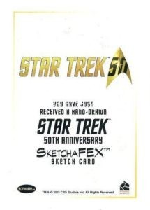 Star Trek 50th Anniversary Trading Card Emily Tester ArtiFEX Original Artwork Back