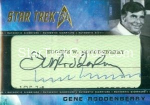 Star Trek 50th Anniversary Trading Card Gene Roddenberry Cut Signature 1