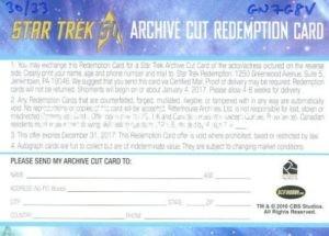 Star Trek 50th Anniversary Trading Card Mark Lenard Autograph Redemption Card Alternate
