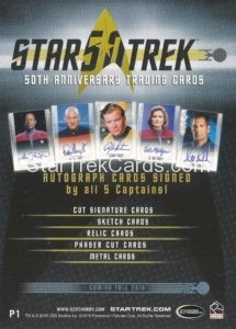 Star Trek 50th Anniversary Trading Card P1 Back