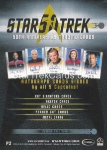 Star Trek 50th Anniversary Trading Card P2 Back