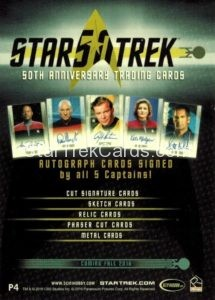 Star Trek 50th Anniversary Trading Card P4 Back