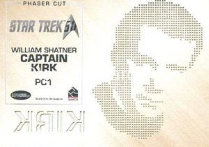 Star Trek 50th Anniversary Trading Card PC1 Back
