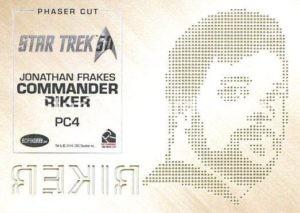 Star Trek 50th Anniversary Trading Card PC4 Back