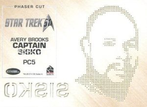 Star Trek 50th Anniversary Trading Card PC5 Back