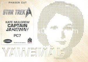 Star Trek 50th Anniversary Trading Card PC7 Back