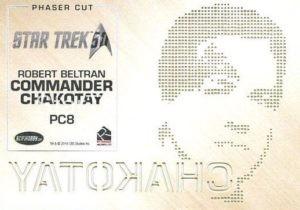 Star Trek 50th Anniversary Trading Card PC8 Back