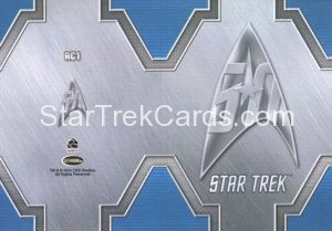 Star Trek 50th Anniversary Trading Card RC1 Back