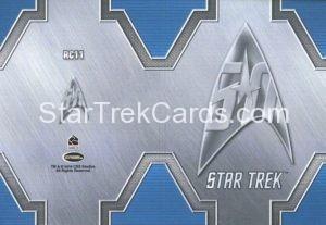 Star Trek 50th Anniversary Trading Card RC11 Back 1