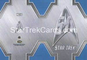 Star Trek 50th Anniversary Trading Card RC13 Back