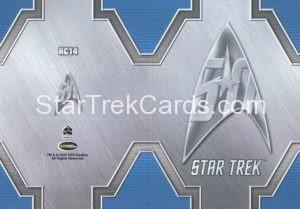 Star Trek 50th Anniversary Trading Card RC14 Back 1