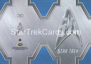 Star Trek 50th Anniversary Trading Card RC18 Back