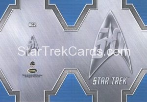 Star Trek 50th Anniversary Trading Card RC2 Back