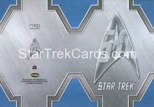 Star Trek 50th Anniversary Trading Card RC21 Back