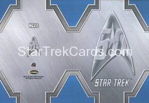 Star Trek 50th Anniversary Trading Card RC22 Back 1