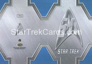 Star Trek 50th Anniversary Trading Card RC24 Back