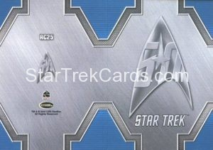 Star Trek 50th Anniversary Trading Card RC25 Back