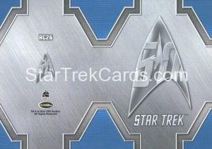 Star Trek 50th Anniversary Trading Card RC26 Back