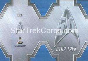 Star Trek 50th Anniversary Trading Card RC27 Back