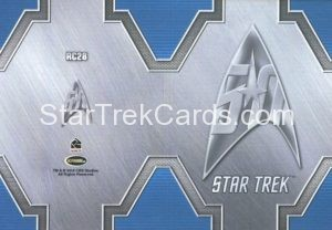 Star Trek 50th Anniversary Trading Card RC28 Back