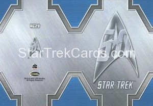 Star Trek 50th Anniversary Trading Card RC29 Back