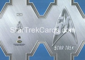 Star Trek 50th Anniversary Trading Card RC30 Back