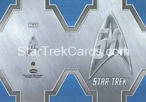 Star Trek 50th Anniversary Trading Card RC33 Back