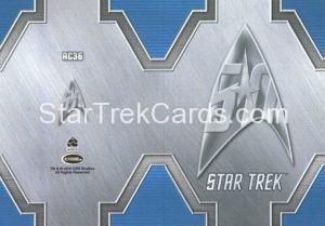 Star Trek 50th Anniversary Trading Card RC36 Back 1