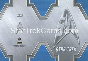 Star Trek 50th Anniversary Trading Card RC39 Back