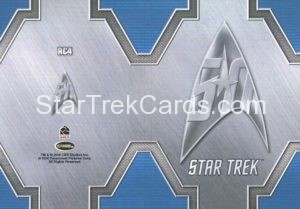 Star Trek 50th Anniversary Trading Card RC4 Back