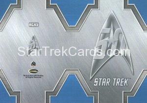 Star Trek 50th Anniversary Trading Card RC45 Back 1