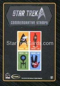 Star Trek 50th Anniversary Trading Card S1 Back