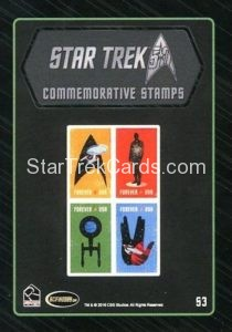 Star Trek 50th Anniversary Trading Card S3 Back