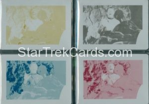 Star Trek 50th Anniversary Trading Card Set of 4 Printing Plates