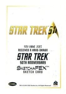 Star Trek 50th Anniversary Trading Card Sketch Andrew Garcia Back