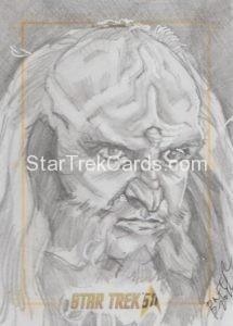 Star Trek 50th Anniversary Trading Card Sketch Bien Flores 1