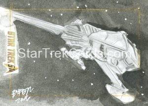 Star Trek 50th Anniversary Trading Card Sketch Bien Flores
