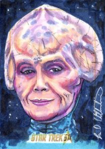 Star Trek 50th Anniversary Trading Card Sketch Brad Utterstrom