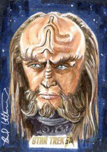 Star Trek 50th Anniversary Trading Card Sketch Brad Utterstrom Alternate