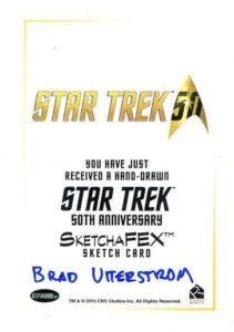 Star Trek 50th Anniversary Trading Card Sketch Brad Utterstrom Back