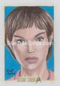 Star Trek 50th Anniversary Trading Card Sketch Brent Ragland