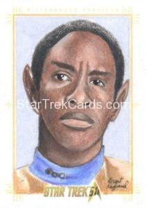 Star Trek 50th Anniversary Trading Card Sketch Brent Ragland Alternate