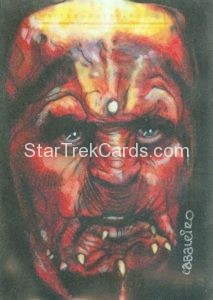 Star Trek 50th Anniversary Trading Card Sketch Carlos Cabalerio Alternate