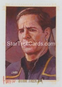 Star Trek 50th Anniversary Trading Card Sketch Charles Hall Alternate