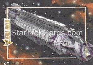 Star Trek 50th Anniversary Trading Card Sketch Chris Meeks