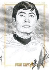 Star Trek 50th Anniversary Trading Card Sketch Dan Bergen