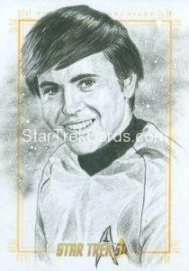 Star Trek 50th Anniversary Trading Card Sketch Dan Bergen Alternate